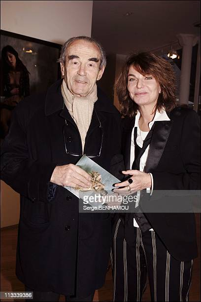 Bettina Rheims Exhibition At The Jerome De Noirmont Gallery In Paris - On March 16Th, 2006 - In Paris, France - Here, Robert Badinter And Bettina...