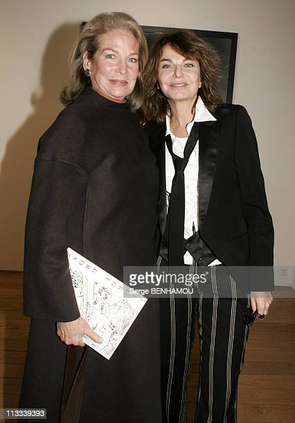 Bettina Rheims Exhibition At The Jerome De Noirmont Gallery In Paris - On March 16Th, 2006 - In Paris, France - Here, Alexandra Stewart And Bettina...