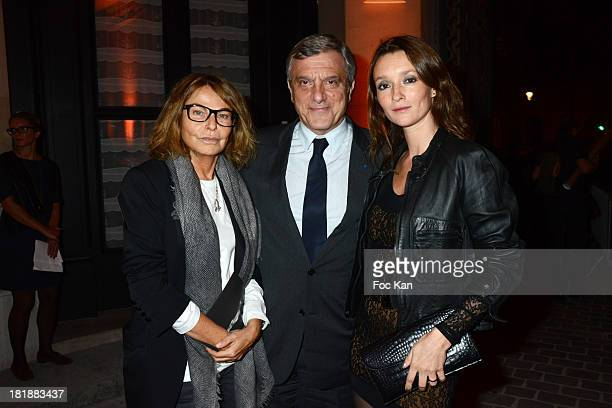 Bettina Rheims, Sidney Toledano and Audrey Marnay attend the Azzedine Alaia Exhibition : At Palais Galliera, Fashion Museum In Paris on September 25,...
