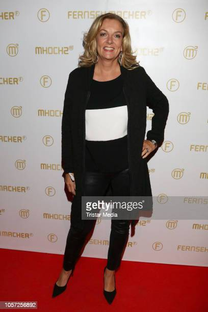 Bettina Tietjen attends the 10th anniversary of the tv shows 'Markus Lanz' and 'Kuechenschlacht' on November 2 2018 in Hamburg Germany