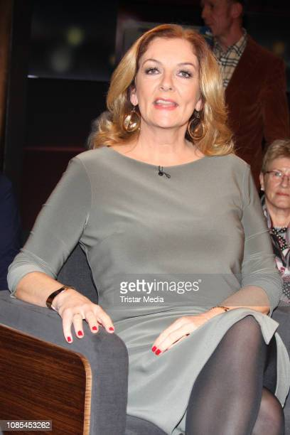 Bettina Tietjen durig the TV show 'Tietjen und Bommes' on January 18 2019 in Hanover Germany