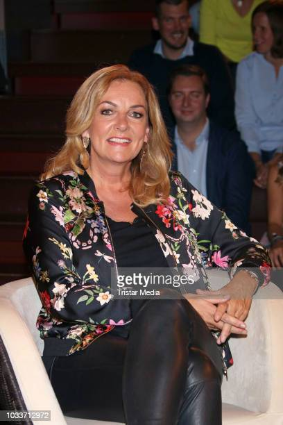 Bettina Tietjen during the during the 'Markus Lanz' TV show on September 12 2018 in Hamburg Germany