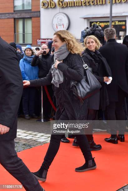 Bettina Tietjen during the memorial service for Jan Fedder at Hamburger Michel on January 14 2020 in Hamburg Germany German actor Jan Fedder was...