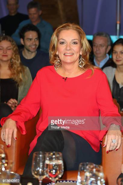 Bettina Tietjen during the NDR Talk Show on February 2 2018 in Hamburg Germany