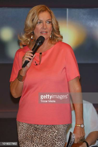 Bettina Tietjen during the 'Tietjen und Bommes' TV show on August 17 2018 in Hanover Germany
