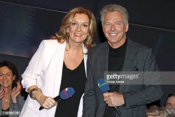 Bettina Tietjen Joerg Pilawa during the NDR talk show on January 31 2020 in Hamburg Germany