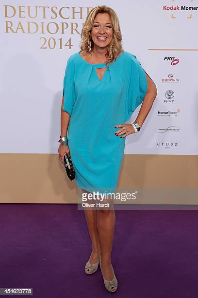 Bettina Tietjen poses before the 'Deutscher Radiopreis 2014' on September 4 2014 in Hamburg Germany