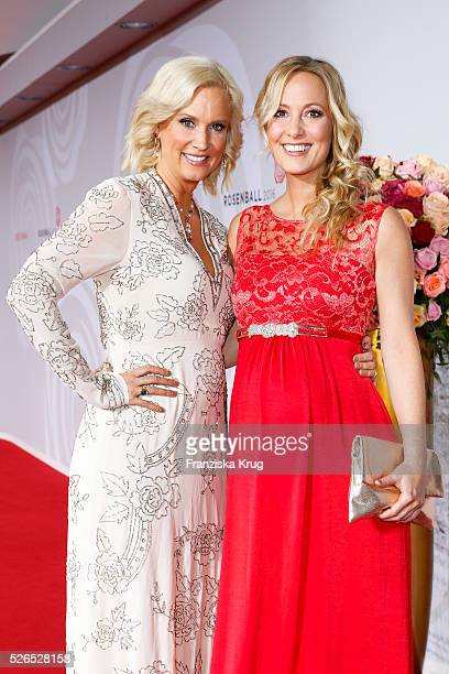 Bettina von Schimmelmann and Angela FingerErben attend the Rosenball 2016 on April 30 in Berlin Germany