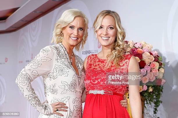 Bettina von Schimmelmann and Angela FingerErben attend the Rosenball 2016 on April 30 in Berlin Germany