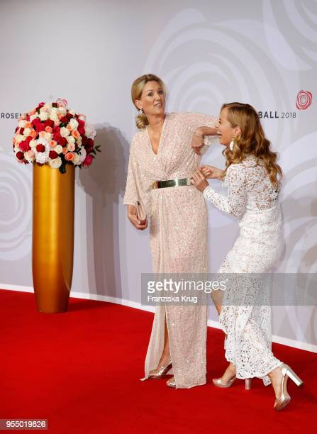 Bettina von Schimmelmann and Angela FingerErben attend the Rosenball charity event at Hotel Intercontinental on May 5 2018 in Berlin Germany