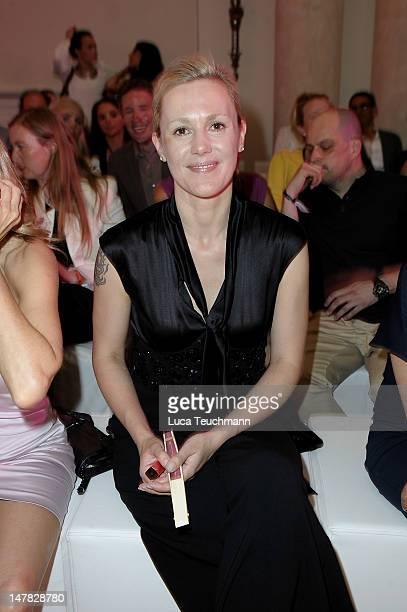 Bettina Wulff attends Basler Show during the MercedesBenz Fashion Week Spring/Summer 2013 at Hotel de Rome on July 4 2012 in Berlin Germany