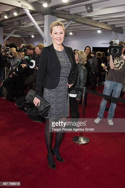 Bettina Wulff attends the It's Showtime Maybelline New York 100th Anniversary show during the MercedesBenz Fashion Week Berlin Autumn/Winter 2015/16...