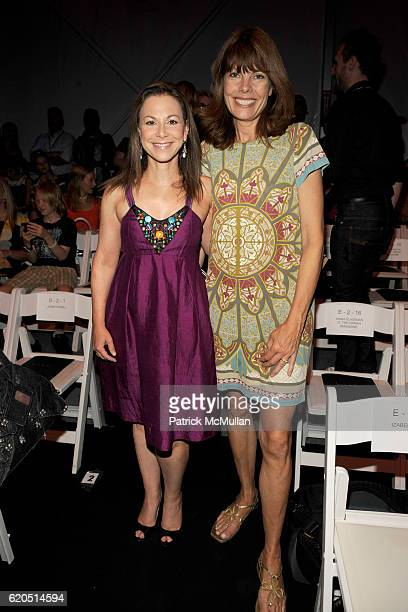 Bettina Zilkha and Pam Taylor attend NICOLE MILLER Spring 2009 Fashion Show at Bryant Park Tents on September 5 2008 in New York City