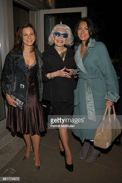 Bettina Zilkha Anne Slater and Catherine Malandrino attend Champagne Perrier Jouet Launch of the 1998 Fleur de Champagne at Soho Grand Penthouse...