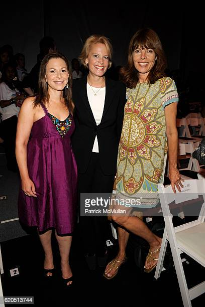 Bettina Zilkha Carol Holmes and Pam Taylor attend NICOLE MILLER Spring 2009 Fashion Show at Bryant Park Tents on September 5 2008 in New York City