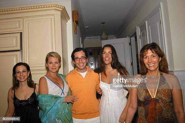 Bettina Zilkha Debbie Bancroft Rob Wiesenthal Ann Caruso and Lisa Woodward attend Bettina Zilkha Lucy and Euan Rellie Kick Off the Summer Dinner at...