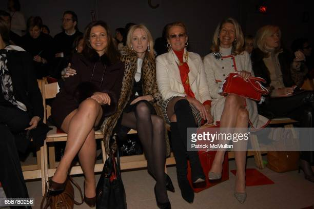 Bettina Zilkha Pamela Gross Finkelstein Muffie Potter Aston and Jamee Gregory attend Douglas Hannant Fashion Show at at the Promenade on February 10...