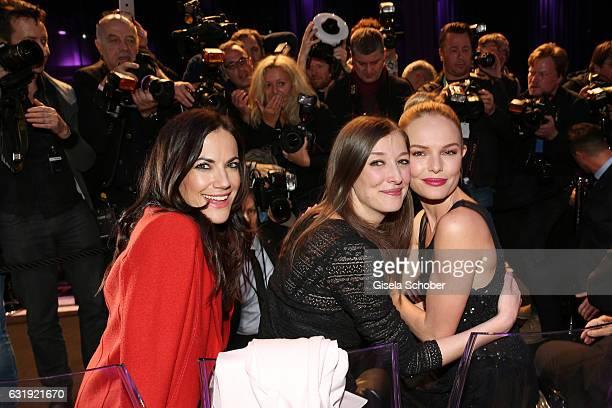 Bettina Zimmermann Alexandra Maria Lara and Kate Bosworth attend the Marc Cain fashion show A/W 2017 at Deutsche Telekom representation on January 17...