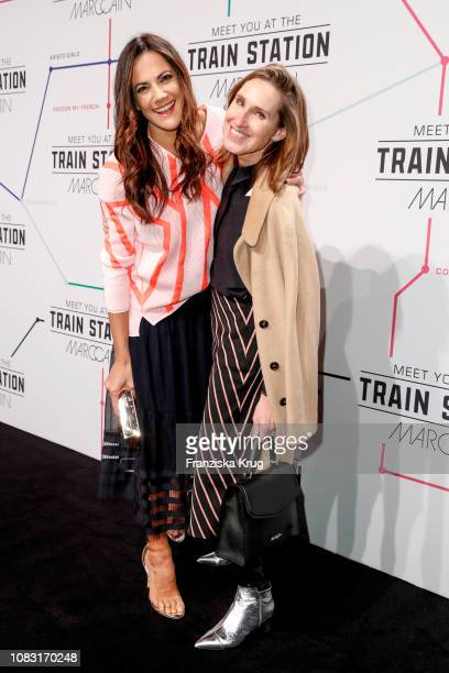 Bettina Zimmermann and Annette Weber during the Marc Cain Fashion Show Autumn/Winter 2019 at Deutsche Telekom's representative office on January 15...