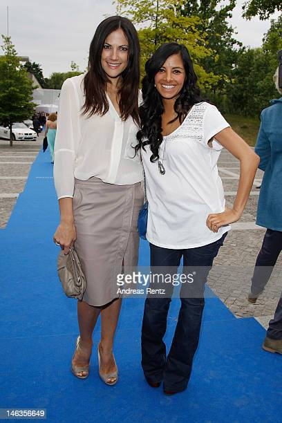 Bettina Zimmermann and Collien UlmenFernandes attend the producer party 2012 of the German producers alliance on June 14 2012 in Berlin Germany