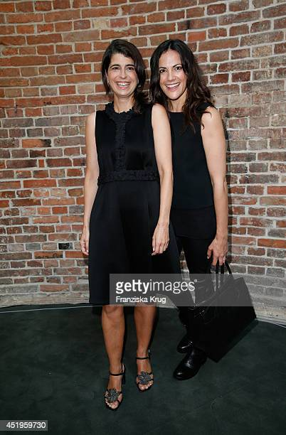 Bettina Zimmermann and Dorothee Schumacher attend the Schumacher show during the MercedesBenz Fashion Week Spring/Summer 2015 at Sankt Elisabeth...