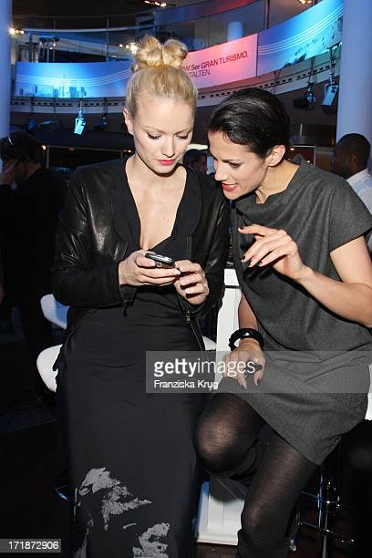 Bettina Zimmermann And Franziska Knuppe at The Premiere Of BMW 5 Series Gran Turismo in Berlin
