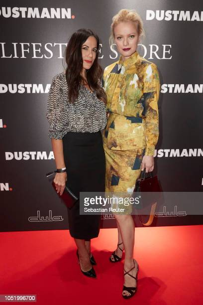 Bettina Zimmermann and Franziska Knuppe attend the Dustmann store preopening on October 12 2018 in Dortmund Germany