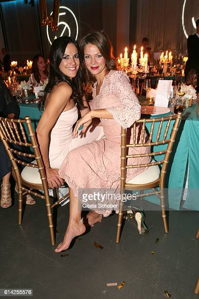 Bettina Zimmermann and Jessica Schwarz during the 5th anniversary of Westwing on October 12 2016 in Munich Germany