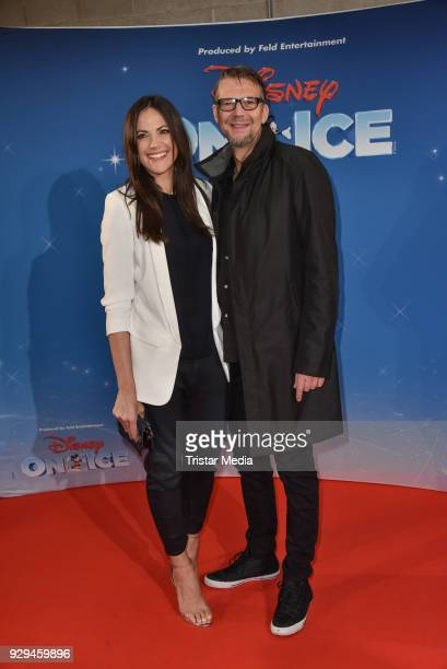 Bettina Zimmermann and Kai Wiesinger attend the Disney on Ice premiere 'Fantastische Abenteuer' at Velodrom on March 8 2018 in Berlin Germany