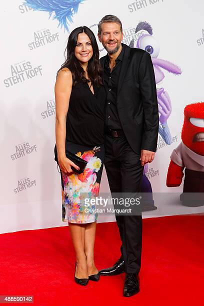 Bettina Zimmermann and Kai Wiesinger attend the German premiere of the film 'Alles steht Kopf' at Zoo Palast on September 16 2015 in Berlin Germany