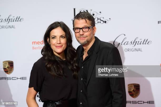 Bettina Zimmermann and Kai Wiesinger attend the Medienboard BerlinBrandenburg Reception at The 68th Berlinale International Film Festival on February...