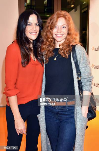 Bettina Zimmermann and Marleen Lohse attend the Audible studios opening at Schumannstrasse on November 28, 2019 in Berlin, Germany.