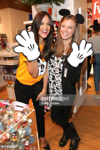 Bettina Zimmermann and Nina Eichinger during the Disney Store VIP opening on November 8 2017 in Munich Germany