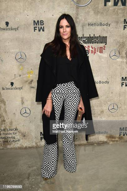 Bettina Zimmermann attends the MercedesBenz presents Fashion Talents from South Africa show during Berlin Fashion Week Autumn/Winter 2020 at...