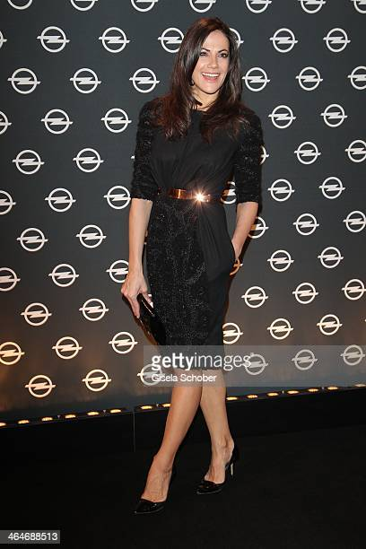 MUNICH GERMANY JANUARY Bettina Zimmermann attends the presentation and vernissage of the calender 'THE ADAM BY BRYAN ADAMS' for Opel at Haus der...