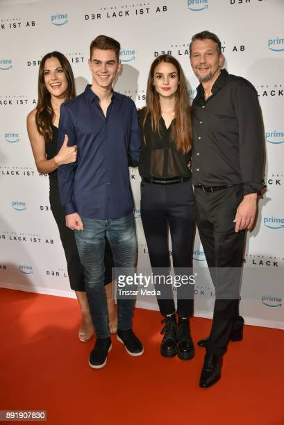 Bettina Zimmermann Benjamin Stein Luise Befort and Kai Wiesinger attend the photo call of the 'Der Lack ist ab' at Astor Film Lounge on December 13...