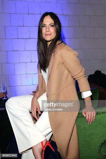 Bettina Zimmermann during the Marc Cain Fashion Show Berlin Autumn/Winter 2018 at metro station Potsdamer Platz at on January 16 2018 in Berlin...