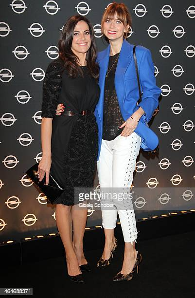 MUNICH GERMANY JANUARY Bettina Zimmermann Eva Padberg attend the presentation and vernissage of the calender THE ADAM BY BRYAN ADAMS for Opel at Haus...