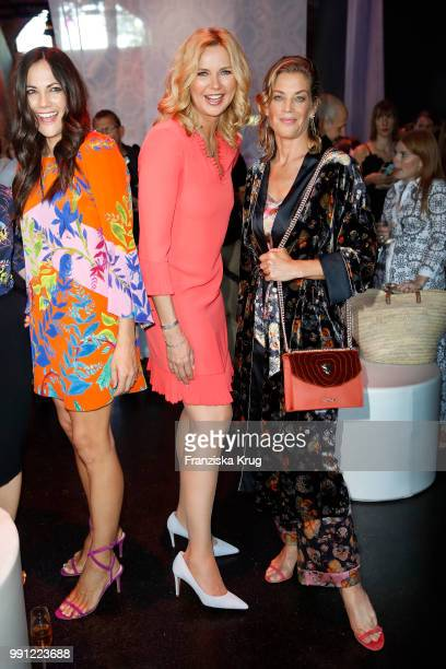 Bettina Zimmermann Veronica Ferres and Marie Baeumer during the Marc Cain Fashion Show Spring/Summer 2019 at WECC on July 3 2018 in Berlin Germany