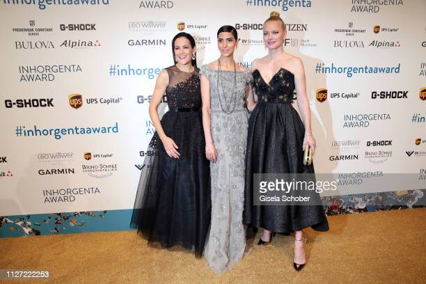 Bettina Zimmermann Zoe Helali and Franziska Knuppe during the INHORGENTA Awards at Eisbach Studios on February 24 2019 in Munich Germany