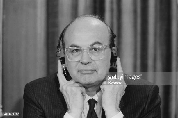 Bettino Craxi , the Prime Minister of Italy, April 1987.