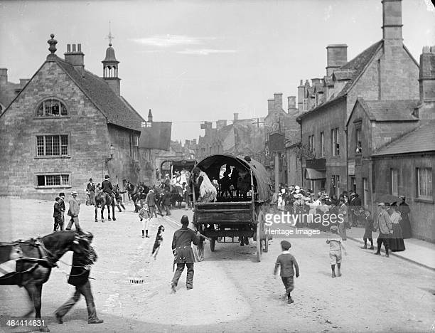 Betts Cake Shop High Street Banbury Oxfordshire c1860c1922 General view of covered wagon in procession at Floral Festival
