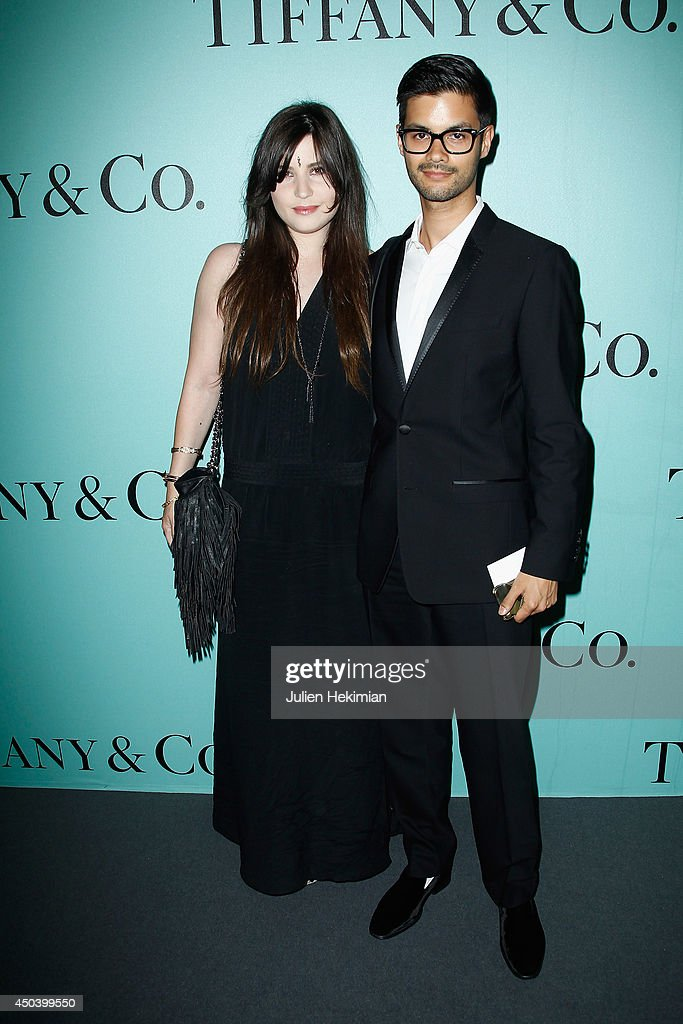 Betty Autier and guest attend the Tiffany & Co Flagship Opening on the Champs Elysee on June 10, 2014 in Paris, France.