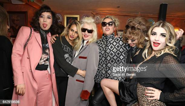 Betty Bachz Alice Dellal Pam Hogg Jaime Winstone Ellie Rae Winstone and Lily Platt attend the Pam Hogg aftershow party during the London Fashion Week...