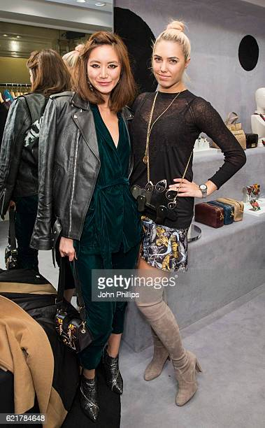 Betty Bachz and Amber Le Bon attend the Bimba Y Lola Regent Street pop up store launch on November 8 2016 in London England