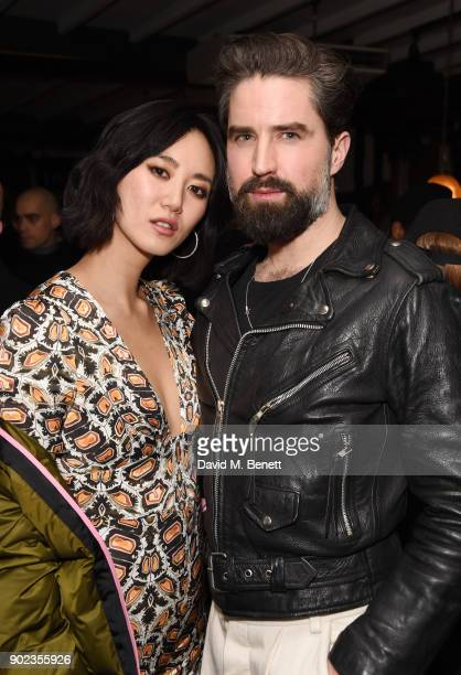 Betty Bachz and Jack Guinness attend the LFWM Official Party Pub LockIn during London Fashion Week Men's January 2018 at The George on January 7 2018...