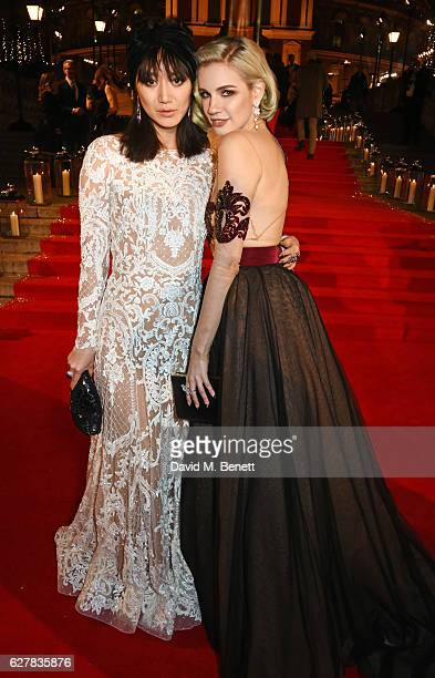 Betty Bachz and Nikita Andrianova attend The Fashion Awards 2016 at Royal Albert Hall on December 5 2016 in London United Kingdom