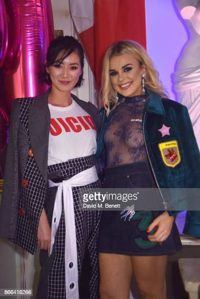 Betty Bachz and Tallia Storm attend Tallia Storm's 19th birthday party at Bunga Bunga on October 25 2017 in London England