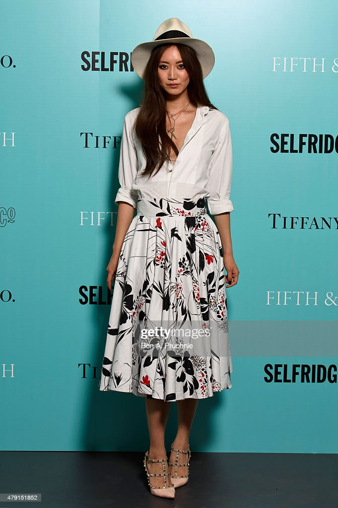 Betty Bachz arrives at the Tiffany & Co. immersive exhibition 'Fifth & 57th' at The Old Selfridges Hotel on July 1, 2015 in London, England.
