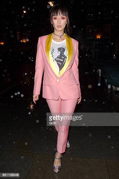 Betty Bachz arriving at the Chiltern Firehouse on January 6 2017 in London England